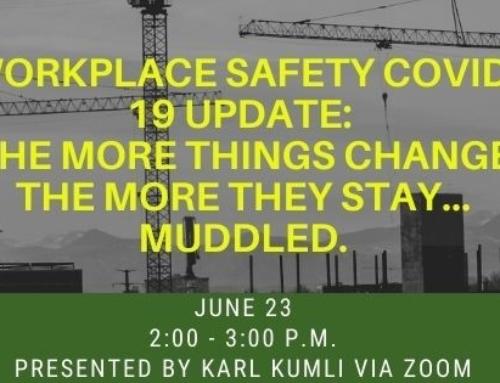 June 23 Webinar: Workplace Safety COVID-19 Update
